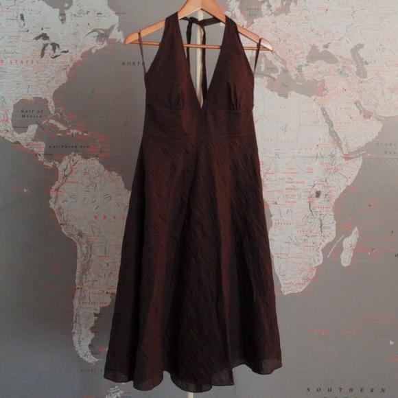 J. Crew Dresses & Skirts - NWT J Crew Halter Dress Brown Size 10